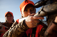 DEER HUNTERS WEARING BLAZE ORANGE