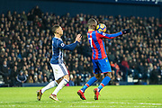 Crystal Palace #17 Christian Benteke, West Bromwich Albion (3) Kieran Gibbs during the Premier League match between West Bromwich Albion and Crystal Palace at The Hawthorns, West Bromwich, England on 2 December 2017. Photo by Sebastian Frej.