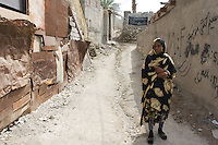 Iran. Minab. April 2008. a woman who her husband died from leprosy.