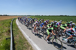 Peloton weave through the countryside on Stage 4 of the Giro Rosa - a 118 km road race, starting and finishing in Occhiobello on July 3, 2017, in Rovigo, Italy. (Photo by Sean Robinson/Velofocus.com)