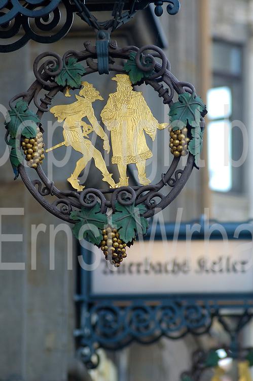 Deutschland, Leipzig,  Schild  Auerbachs Keller Deutschland, Leipzig, sign of Auerbachs Keller