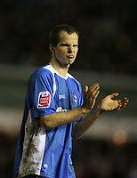 Photo: Rich Eaton.<br /> <br /> Birmingham City v Derby County. Coca Cola Championship. 09/03/2007. Stephen Clemence of Birmingham City applauds the defensive work of his team