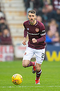 Michael Smith (#2) of Heart of Midlothian during the 4th round of the William Hill Scottish Cup match between Heart of Midlothian and Livingston at Tynecastle Stadium, Edinburgh, Scotland on 20 January 2019.