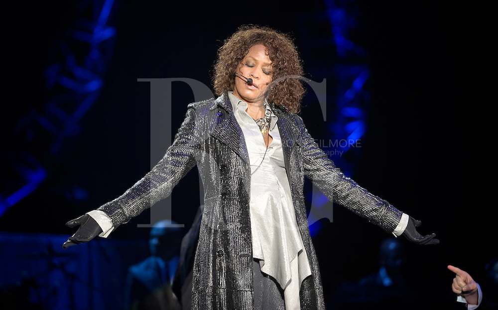 GLASGOW, UNITED KINGDOM - MAY 01: Whitney Houston performs at the Scottish Exhibition And Conference Centre on May 1, 2010 in Glasgow, Scotland. (Photo by Ross Gilmore)