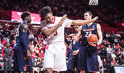 The Rutgers Scarlet Knights men's basketball team takes on the Illinois Fighting Illini at the RAC on Wednesday, February 3, 2016.<br />