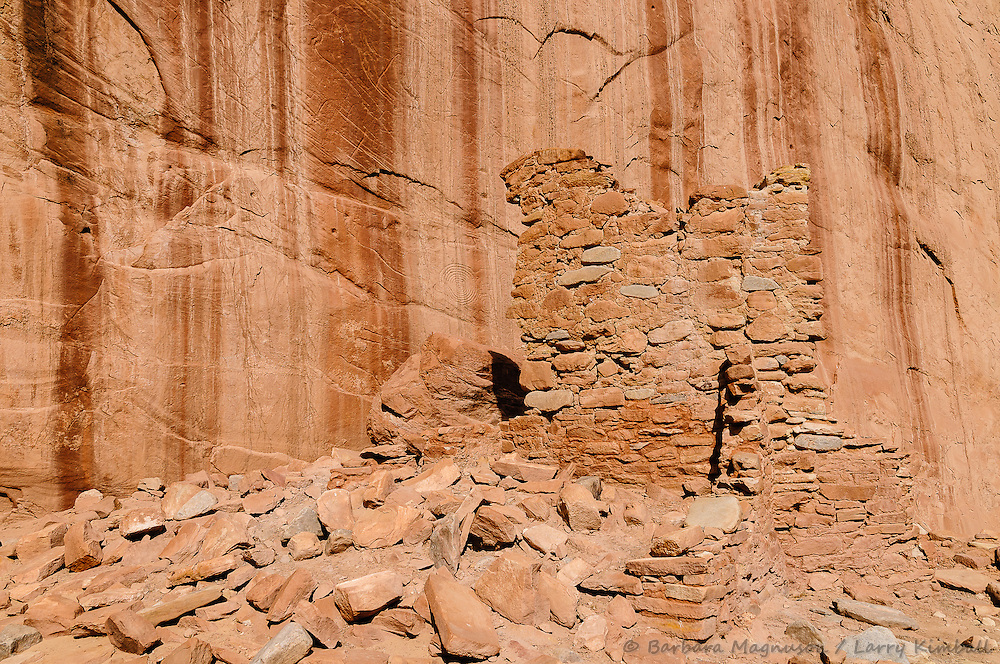 Arch Canyon ruins details; Cedar Mesa, UT
