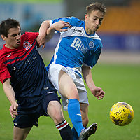 St Johnstone v Turriff Utd FC.. 02.08.16  IRN-BRU CUP 1st Round  <br />Jamie Docherty and Paul Young<br />Picture by Graeme Hart.<br />Copyright Perthshire Picture Agency<br />Tel: 01738 623350  Mobile: 07990 594431