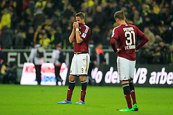01.03.2014, Signal Iduna Park, Dortmund, GER, 1. FBL, Borussia Dortmund vs 1. FC Nuernberg, 23. Runde, im Bild Tomas Pekhart (1 FC Nuernberg #9), Ondrej Petrak (1 FC Nuernberg #31) enttaeuscht, niedergeschlagen, traurig, Emotion // during the German Bundesliga 23th round match between Borussia Dortmund and 1. FC Nuernberg at the Signal Iduna Park in Dortmund, Germany on 2014/03/01. EXPA Pictures © 2014, PhotoCredit: EXPA/ Eibner-Pressefoto/ Schueler<br /> <br /> *****ATTENTION - OUT of GER*****