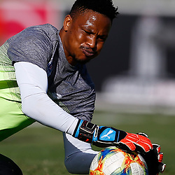 Bongani Mpandle Goalkeeper of Maritzburg Utd during the Premier Soccer League (PSL) promotion play-off  match between  Royal Eagles and Maritzburg United F.C. at the Chatsworth Stadium Durban.South Africa,29,05,2019