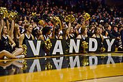 Vanderbilt Commodores Cheerleaders react during the second half of a NCAA college basketball game against the Alcorn State Braves in Nashville, Tenn., Friday, Nov 16, 2018. Vanderbilt won 79-54. (Jim Brown/Image of Sport)