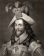 George Clifford (1558-1605) 3rd Earl of Cumberland. English courtier, naval commander and privateer. Engraving.