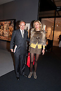 SIMON DE PURY; MICHAELA DE PURY, Pavilion of art and design.- PAD London  Berkeley Square. London. 10 October 2011. <br /> <br />  , -DO NOT ARCHIVE-© Copyright Photograph by Dafydd Jones. 248 Clapham Rd. London SW9 0PZ. Tel 0207 820 0771. www.dafjones.com.