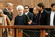 Rome jan 27th 2016, the president of Islamic Republic of Iran visits the Flavian Amphitheater. In the picture Hassan Rouhani, and the italian minister of Cultural heritage, Dario Franceschini