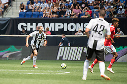 July 28, 2018 - Harrison, New Jersey, United States - Juventus defender GIORGIO CHIELLINI (3) dribbles the ball upfield during the International Champions Cup at Red Bull Arena in Harrison, NJ.  Juventes vs Benfica (Credit Image: © Mark Smith via ZUMA Wire)