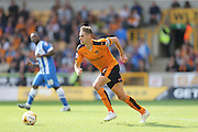 Wolverhampton Wanderers midfielder Dave Edwards comes away with the ball during the Sky Bet Championship match between Wolverhampton Wanderers and Brighton and Hove Albion at Molineux, Wolverhampton, England on 19 September 2015.