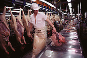 Pigs/Swine/Hog: Oscar Mayer Company slaughterhouse in Perry, Iowa. USA.