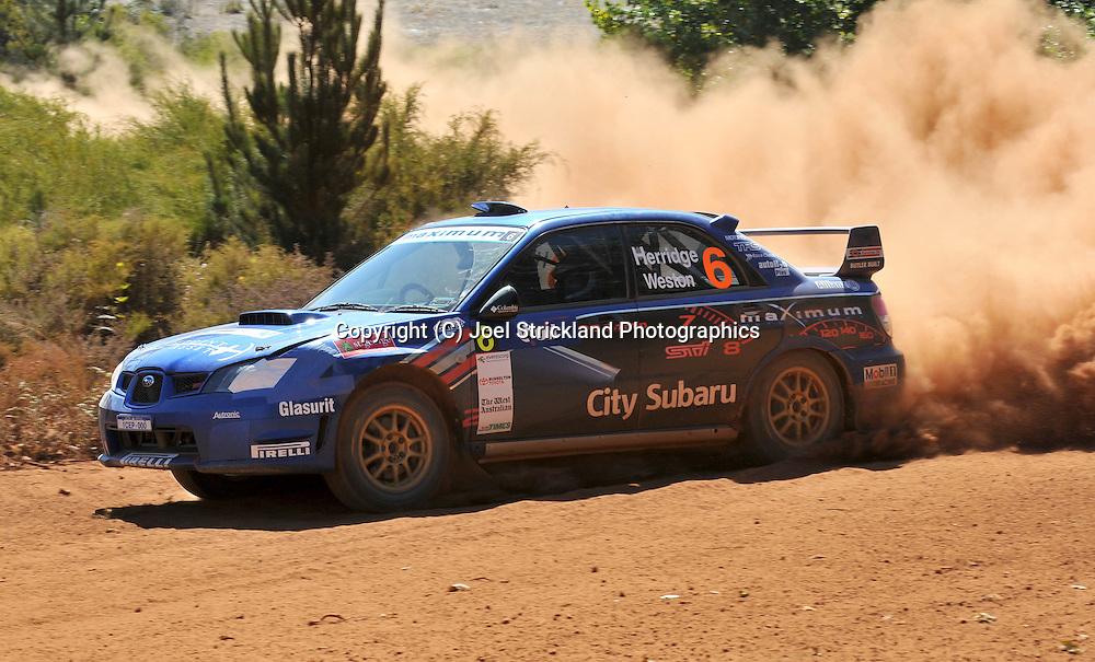 Dean HERRIDGE & Glen WESTON .Subaru  Impreza WRX Sti.Motorsport-Rally/2009 Forest Rally .Heat 2.5th of April 2009.Nannup, Western Australia.(C) Joel Strickland Photographics