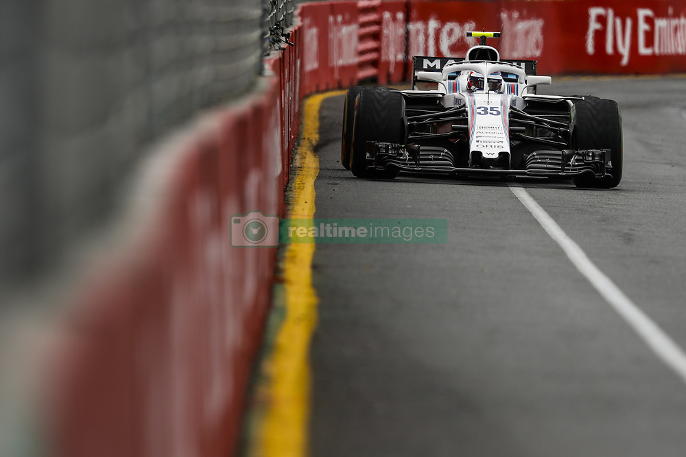 March 24, 2018 - Melbourne, Victoria, Australia - SIROTKIN Sergey (rus), Williams F1 Mercedes FW41, action during 2018 Formula 1 championship at Melbourne, Australian Grand Prix, from March 22 To 25 - s: FIA Formula One World Championship 2018, Melbourne, Victoria : Motorsports: Formula 1 2018 Rolex  Australian Grand Prix, (Credit Image: © Hoch Zwei via ZUMA Wire)