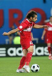Hamit Altintop of Turkey during the UEFA EURO 2008 Quarter-Final soccer match between Croatia and Turkey at Ernst-Happel Stadium, on June 20,2008, in Wien, Austria. Turkey won after penalty shots. (Photo by Vid Ponikvar / Sportal Images)