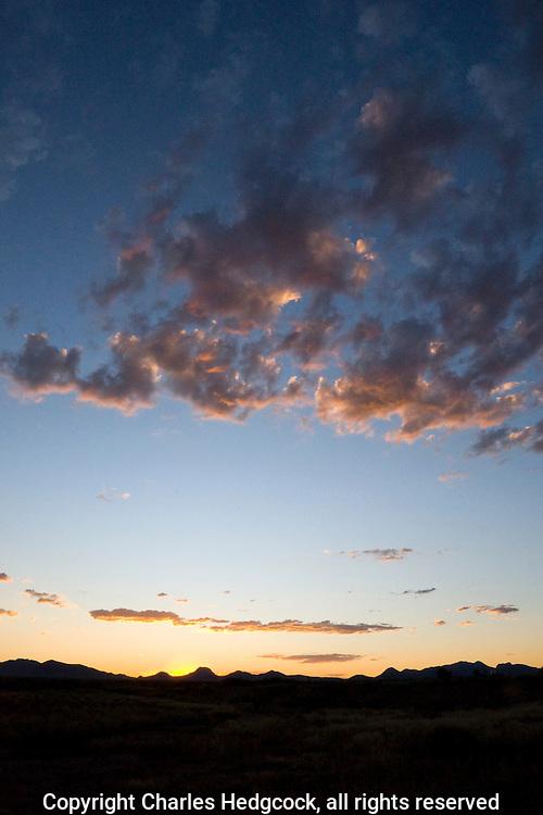 Sunset, Rancho San Bernardino, Sonora Mexico
