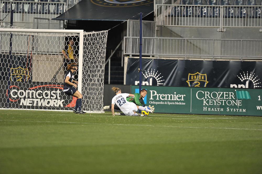 CHESTER, PA- SEPTEMBER 09: Penn defeats Villanova 1-0 the at PPL Park on September 9, 2011 in Chester, Pennsylvania. (Photo by Drew Hallowell)
