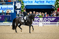Werth Isabell, GER, Weihegold OLD<br /> Göteborg - Gothenburg Horse Show 2019 <br /> FEI Dressage World Cup™ Final II<br /> Grand Prix Freestyle/Kür<br /> Longines FEI Jumping World Cup™ Final and FEI Dressage World Cup™ Final<br /> 06. April 2019<br /> © www.sportfotos-lafrentz.de/Stefan Lafrentz