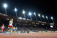 Artur Kuciapski from Poland competes in men's 400 meters Semi-Final during the Second Day of the European Athletics Championships Zurich 2014 at Letzigrund Stadium in Zurich, Switzerland.<br /> <br /> Switzerland, Zurich, August 13, 2014<br /> <br /> Picture also available in RAW (NEF) or TIFF format on special request.<br /> <br /> For editorial use only. Any commercial or promotional use requires permission.<br /> <br /> Photo by © Adam Nurkiewicz / Mediasport