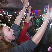 A happy crowd as Republican Presidential candidate Ted Cruz celebrates his victory in the Wisconsin primary Tuesday April 5, 2016. <br /> Photography by Jose More