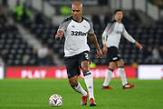 Derby County defender Andre Wisdom during the The FA Cup match between Derby County and Northampton Town at the Pride Park, Derby, England on 4 February 2020.