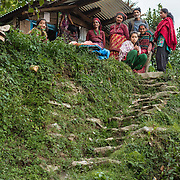 Community members in Babare village, Dolakha, Nepal.