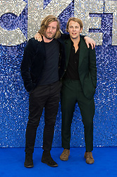May 20, 2019 - London, England, United Kingdom - Tom Odell (R) and Andy Burrows arrive for the UK film premiere of 'Rocketman' at Odeon Luxe, Leicester Square on 20 May, 2019 in London, England. (Credit Image: © Wiktor Szymanowicz/NurPhoto via ZUMA Press)