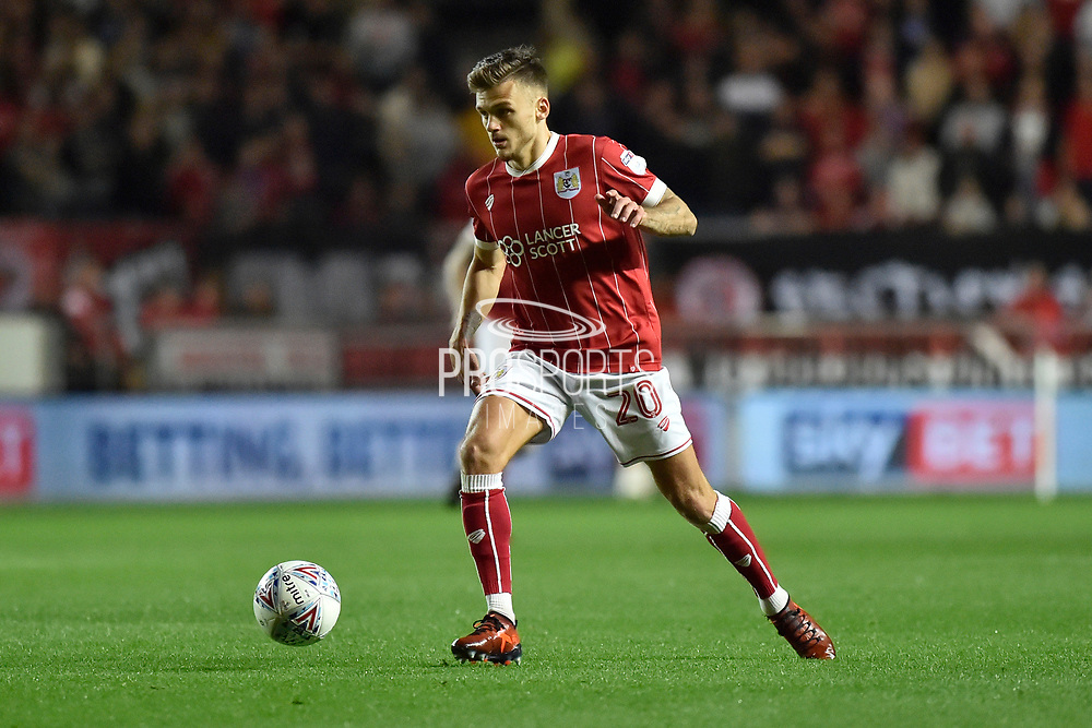 Bristol City striker Jamie Paterson (20) during the EFL Sky Bet Championship match between Bristol City and Burton Albion at Ashton Gate, Bristol, England on 13 October 2017. Photo by Richard Holmes.