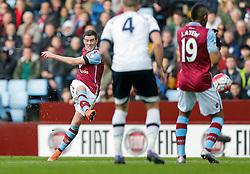 Jordan Veretout of Aston Villa shoots - Mandatory byline: Rogan Thomson/JMP - 13/03/2016 - FOOTBALL - Villa Park Stadium - Birmingham, England - Aston Villa v Tottenham Hotspur - Barclays Premier League.