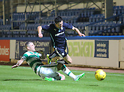 Anthony Stokes wipes out Sam Dryden to earn a yellow card - Celtic v Dundee - Development League at Cappielow<br /> <br />  - &copy; David Young - www.davidyoungphoto.co.uk - email: davidyoungphoto@gmail.com