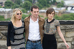 Sienna Miller, Matthew Rhys and Keira Knightley..The Edge of Love photocall at Edinburg Castle..©2007 Michael Schofield. All Rights Reserved.