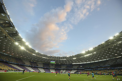 May 25, 2018 - Kiev, Ukraine - General view taken during a Real Madrid training session at the Olympic Stadium in Kiev, Ukraine on May 25, 2018, on the eve of the UEFA Champions League final football match between Liverpool and Real Madrid. (Credit Image: © Sergii Kharchenko/NurPhoto via ZUMA Press)