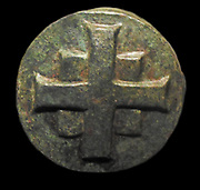 Bronze cross with an image of Saint Barbara in prayer. AD 900-1000. Saint Barbara known in the Eastern Orthodox Church as the Great Martyr Barbara, was an early Christian saint and martyr