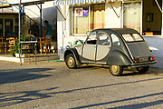Citroën 2CV deux chevaux. Photographed in Chania, Crete, Greece