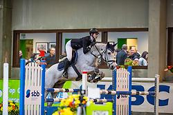 Renders Lise, BEL, Justifeuer G&W<br /> Klasse Licht<br /> Nationaal Indoor Kampioenschap Pony's LRV <br /> Oud Heverlee 2019<br /> © Hippo Foto - Dirk Caremans<br /> 09/03/2019