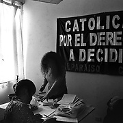 ANGELA JIMENEZ- The Chilean office of CDD is on the premises of a large women's organization, called Casa de la Mujer, in Valparaiso, Chile.  CDD-Latin America interacts with other women's organizations and the organization approaches abortion as part of a complex web of reproductive and women's issues.  <br />