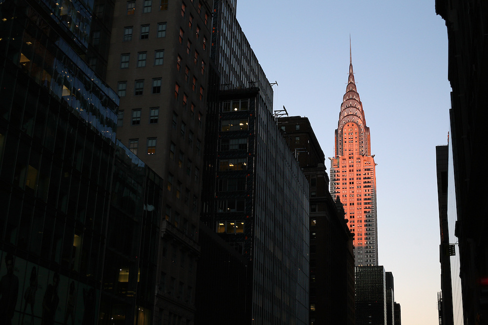 Empire State Building at sunset. 2010