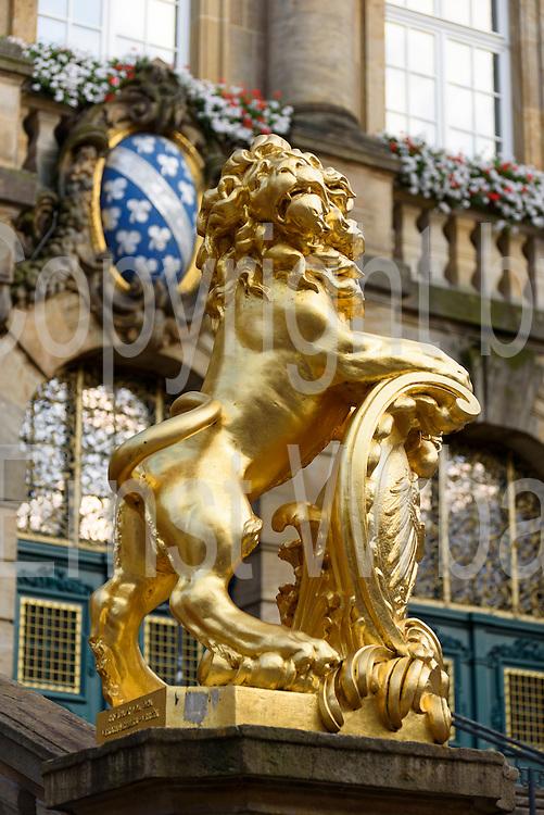 Goldener Löwe, Rathaus, Altstadt, Kassel, Hessen, Deutschland