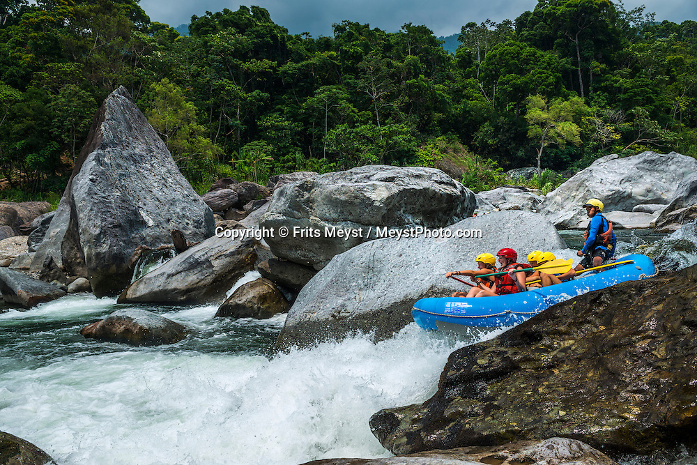 Honduras, May 2014. Rafting the Rio Cangrejal river with La Moskitia Adventures. From the Bay islands on the Caribbean coast, via the lush jungles of the interior to the ancient Mayan culture of Copan, Honduras is one big adventure.  Photo by Frits Meyst / MeystPhoto.com