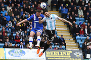 Gillingham forward Cody MacDonald  and Shrewsbury Town defender Nat Knight-Percival during the Sky Bet League 1 match between Gillingham and Shrewsbury Town at the MEMS Priestfield Stadium, Gillingham, England on 23 April 2016. Photo by Martin Cole.