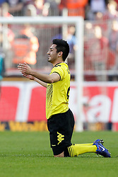 25.03.2012, Rhein Energie Stadion, Koeln, GER, 1. FBL, 1.FC Koeln vs Borussia Dortmund, 27. Spieltag, im Bild Ilkay GUENDOGAN (BVB Borussia Dortmund #21) enttaeuscht - am Boden // during the German Bundesliga Match, 27th Round between 1.FC Koeln and Borussia Dortmund at the Rhein Energie Stadion, Koeln, Germany on 2012/03/25. EXPA Pictures © 2012, PhotoCredit: EXPA/ Eibner/ Gerry Schmit..***** ATTENTION - OUT OF GER *****
