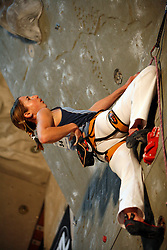 Slovenian climber Martina Cufar at her last world cup competition in Kranj, on November 18, 2006.  (Photo by Vid Ponikvar / Sportal Images)/ Sportida)