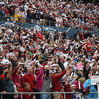 A general overview of the South Carolina seating side during the NCAA Capital One Bowl football game between the South Carolina Gamecocks who represent the SEC and the Wisconsin Badgers who represent the Big 10 Conference, at the Florida Citrus Bowl on Wednesday, January 1, 2014 in Orlando, Florida. (AP Photo/Alex Menendez)