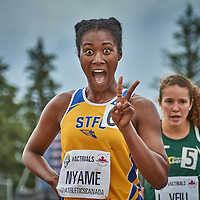 Astrid Nyame all smiles after advancing to the final