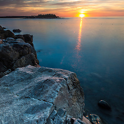 Dawn on the Schoodic Peninsula in Maine's Acadia National Park.