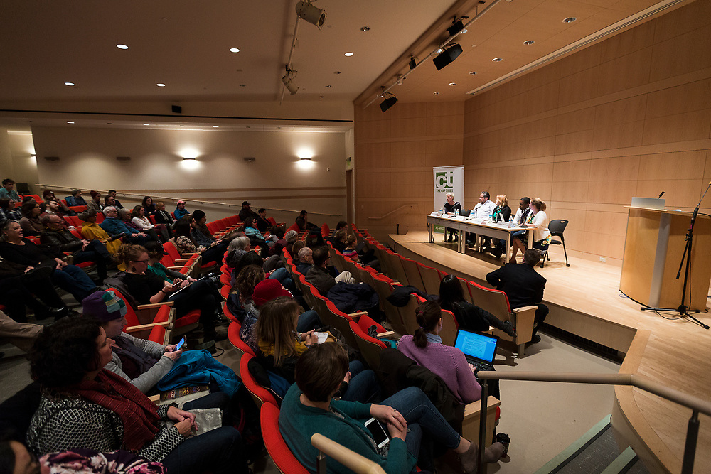 """The Capital Times Talk entitled """"How Can Madison get Better Public Art?"""" at the Madison Museum of Contemporary Art in Madison, Wisconsin, Wednesday, Feb. 21, 2018."""